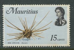 Mauritius -Scott 344 - Fish Definitive Issue -1969 - MLH - Single 15c Stamp