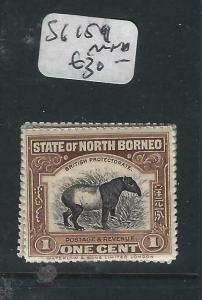 NORTH BORNEO P0105BB)  1C TAPIR  SG 159   MNH