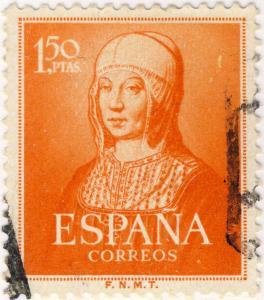 ESPAGNE / ESPAÑA 1951 Ed.1095/Mi.992 1,50Pta Isabel la Católica - VF Used