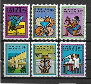 Rwanda MNH 675-80 University Education 1975