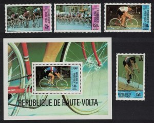 Upper Volta Olympic Games Moscow 4v+MS 1980 MNH SG#563-MS567
