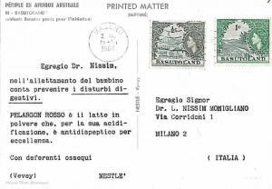 26897 -  POSTAL HISTORY -   BASUTOLAND : COVER to ITALY 1964