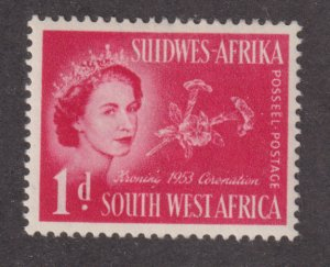 South West Africa 244 Queen Elizabeth II and Flowers 1953