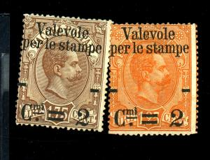 Italy #62-3 MINT Ave-Fine No Gum Cat$79