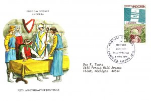 Andorra, Worldwide First Day Cover
