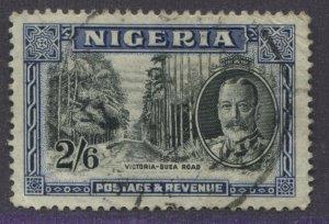 Nigeria KGV 1936 2/6d used
