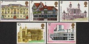 Great Britain 1975 SG975-979 Buildings set MNH
