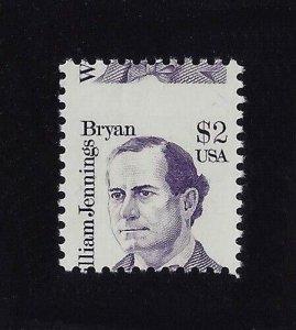 2195 - $2 Misperf Error / EFO William Jennings Bryan Mint NH