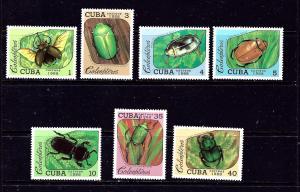 Cuba 3036-42 MNH 1988 Beetles