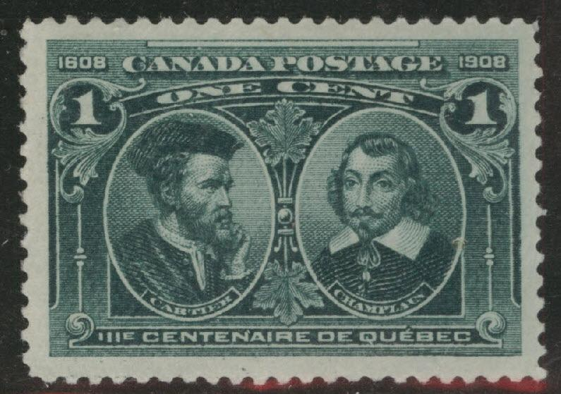 CANADA Scott 97 MH* 1908 Quebec Issue
