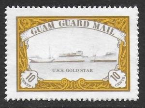 Guam Guard Mail 1981 Local Post U.S.S. GOLD STAR Ship VF-NH, dull gum