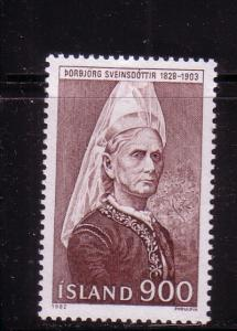 Iceland Sc563 1982 Sveinsdottir stamp mint