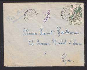 French West Africa Sc 33 on 1945 Air Mail Cover