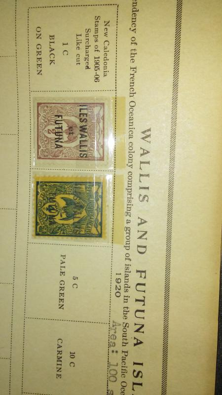 Wallis and Futuna 1905-06,22 3 stamps in all
