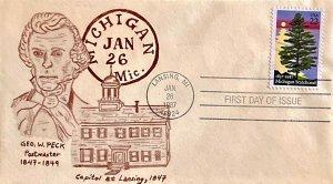 2246 Lansing Michigan George W. Peck Postmaster 1847-1849