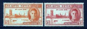 ST.KITTS-NEVIS KG VI 1946 The Victory Set SG 78 & SG 79 MINT