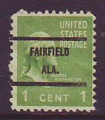 Fairfield AL, 804-71 Bureau Precancel, 1¢ Washington
