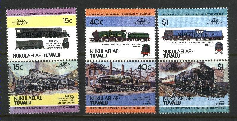 Tuvalu -Nukulaelau 5,10,19  Specimen   Mint NH VF 1984-86 PD