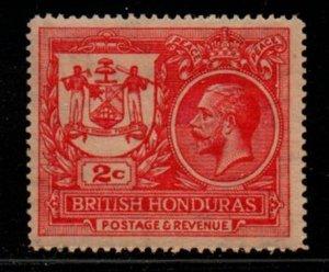 British Honduras Sc 89 1921 2 c carmine  G V Peace stamp mint