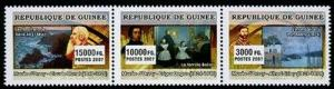 HERRICKSTAMP NEW ISSUES GUINEA Museum of Orsay Stamp Strip of 3 Different
