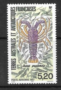 FRENCH SOUTHERN & ANTARCTIC TERRITORIES SG366 1977 SPINY LOBSTER MNH