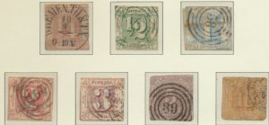 Thurn and Taxis Stamps Scott #8 To 14, Used - Free U.S. Shipping, Free Worldw...