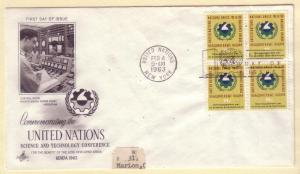 United Nations FDC Sc. # 115 Science    L 94