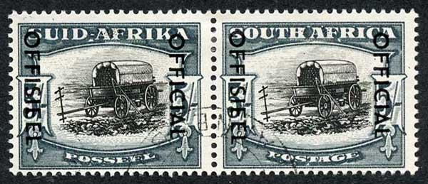 South Africa SG049 5/-  Opt OFFICIAL Fine used