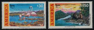 Chile 927-8 MNH Discovery of America, Birds, Seals