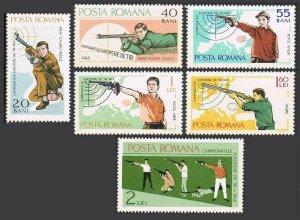 Romania 1748-1753,MNH. Michel 2407-2412. European Shooting Championships,1965.