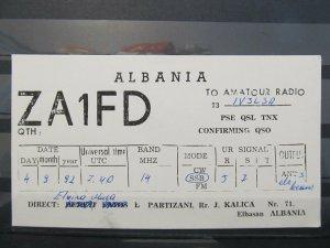 4141 QSL Card Elbasan Albania 1992