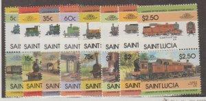 St. Lucia Scott #711-718 Stamps - Mint NH Set