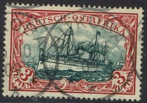 GERMAN EAST AFRICA 1901 YACHT 3R NO WMK USED