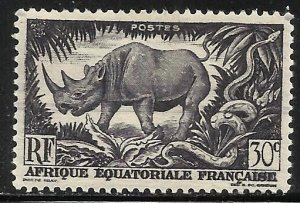 French Equatorial Africa 1946 Scott# 167 MH