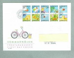 Sweden. FDC 1989.  Discount Stamps Summer Games. Addressed: Bromma.