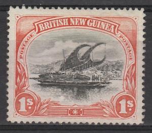 PAPUA 1901 LAKATOI BRITISH NEW GUINEA 1/-  HORIZ  WMK