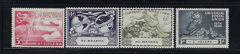 ST HELENA . SCOTT #132-135 1949 UPU ISSUE- MINT HINGED