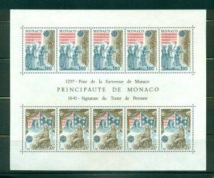 Monaco #1330a  (1982 Europa sheet of ten) VFMNH CV $18.00