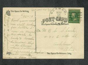 Tennessee Cancel Post Card Gorman Doane Type 3 DPO 1910