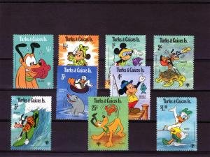 Turks & Caicos Islands 1979 DISNEY (IYC) set 9 values Perforated Mint (NH)