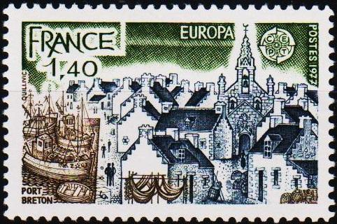 France. 1977 1f40 S.G.2181 Unmounted Mint