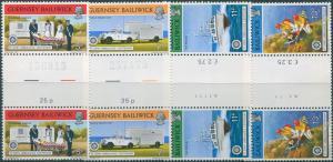 Guernsey 1977 SG157-160 Christmas St John Ambulance gutter pairs set MNH