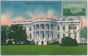 32295  MAXIMUM CARD - Architecture : USA - 1955 - WHITE HOUSE