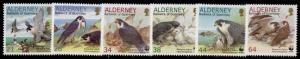 Alderney 142-7 MNH Birds, Peregrine Falcon