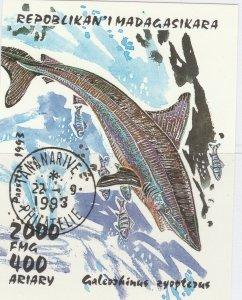 Malagasy Republic 1993 Sharks Sheet Mi. Block 210 Used 11896