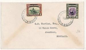 NORTH BORNEO *Sandakan* Cover Aberdeen Scotland 1947 {samwells-covers}W58