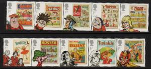Great Britain Sc 3008-17 2012 Comic Book Characters stamp set mint NH