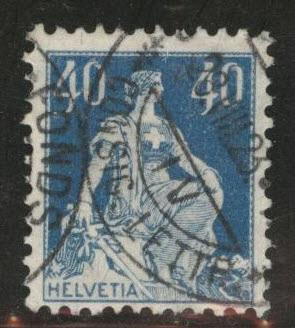 Switzerland Scott 137 used from 1907-1925 set Granite Paper