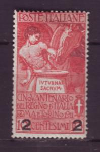 J20298 jlstamps 1913 italy mh #127 ovpt