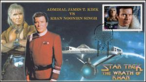 CA17-004, 2017, Star Trek, FDC, Admiral Kirk, Khan, Wrath of Khan